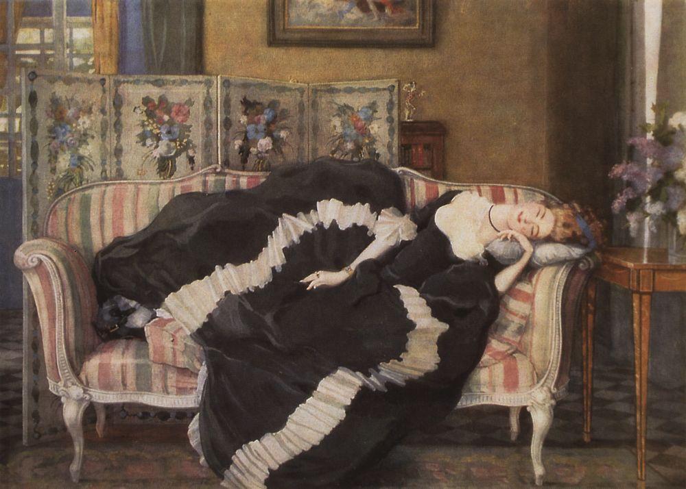 A Sleeping Woman - Konstantin Somov