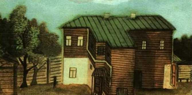 A Small House in Moscow - Pavel Filonov