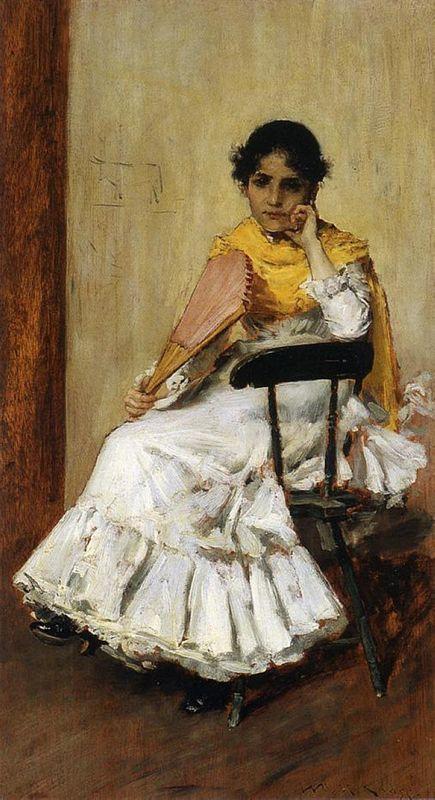 A Spanish Girl (Portrait of Mrs. Chase in Spanish Dress) - William Merritt Chase