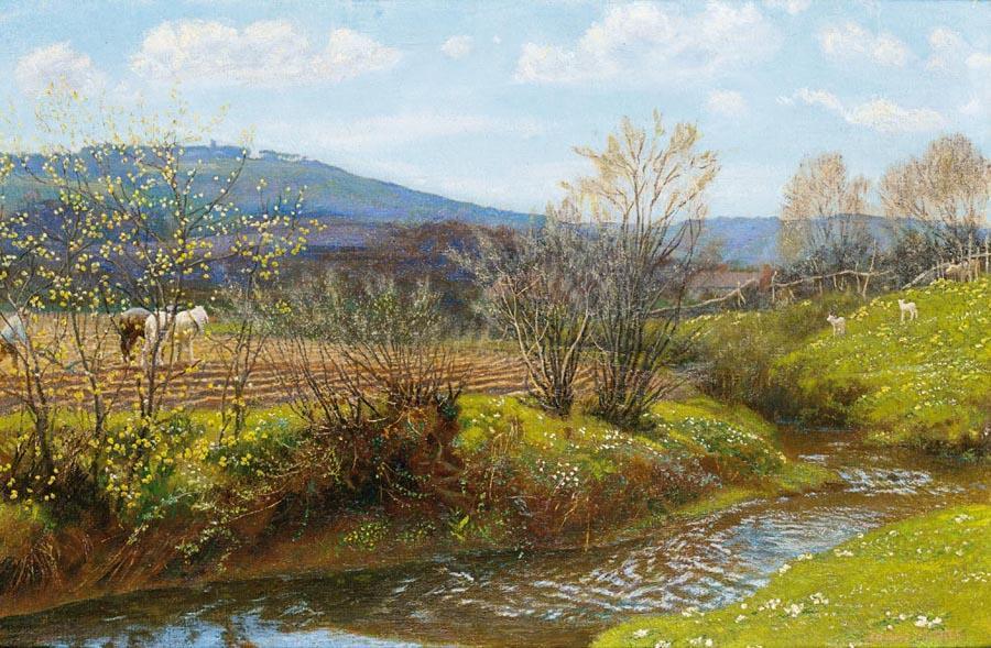 A Spring Afternoon - Arthur Hughes
