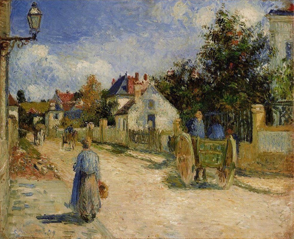 A Street in Pontoise - Camille Pissarro