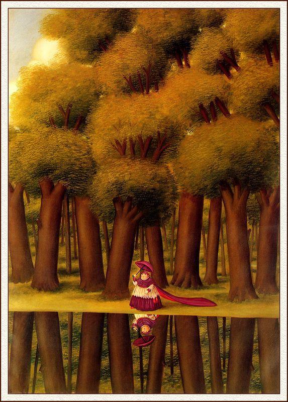 A Stroll by the Lakeside - Fernando Botero