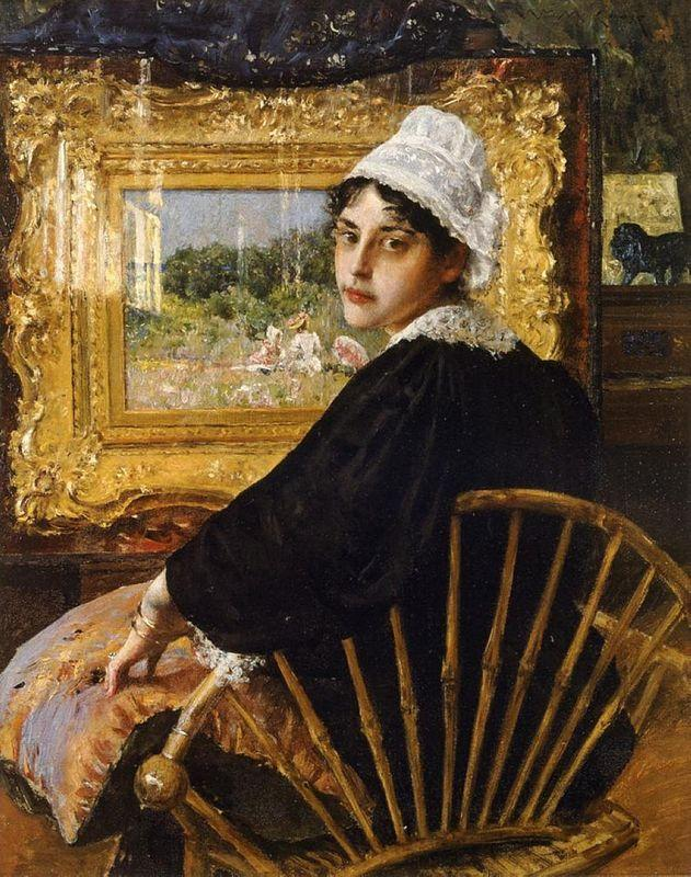 A Study (The Artist's Wife) - William Merritt Chase