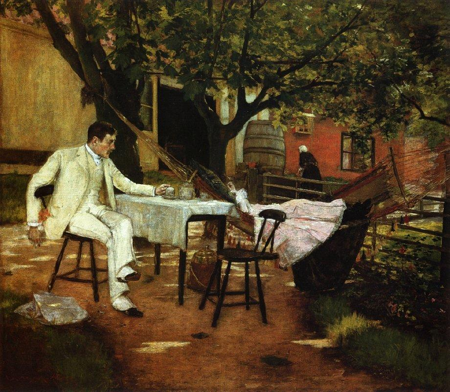 A Summer Afternon in Holland (Sunlight and Shadow) - William Merritt Chase