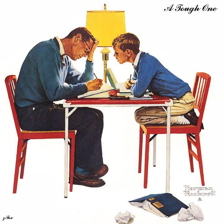 A Tough One - Norman Rockwell