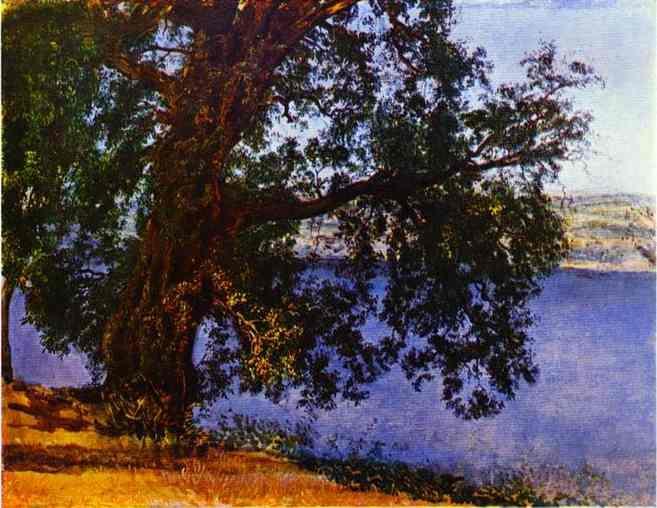 A Tree over Water in the Vicinity of Castel Gandolfo - Alexander Ivanov