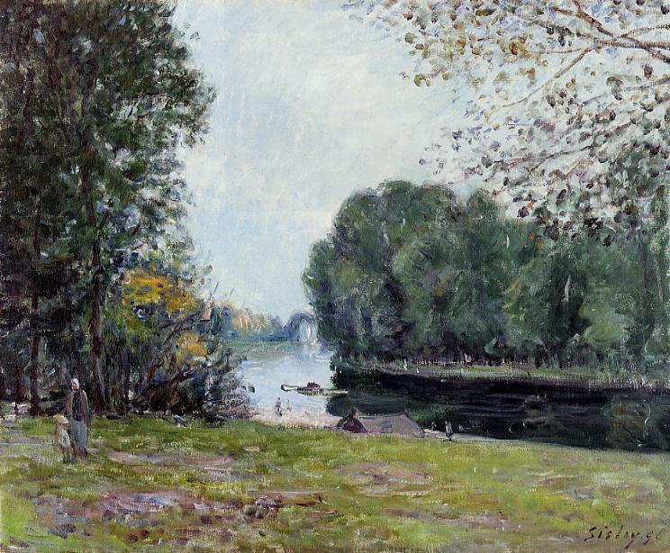 A Turn of the River Loing, Summer - Alfred Sisley