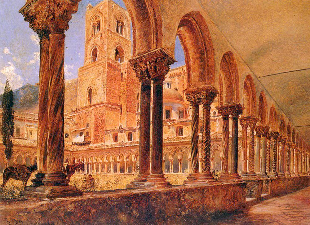 A View Of Monreale, Above Palermo - Rudolf von Alt