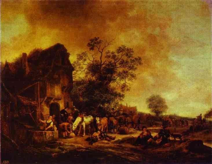 A Village Inn - Adriaen van Ostade