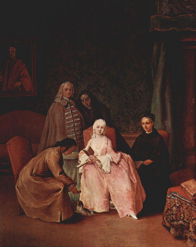 A Visit to a Lady - Pietro Longhi