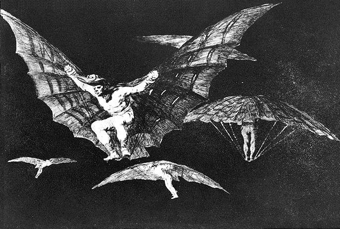 A way of flying - Francisco Goya