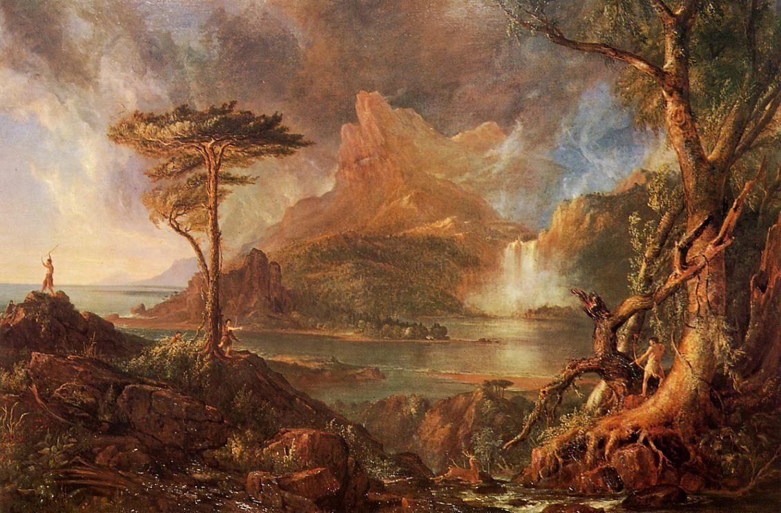 A Wild Scene - Thomas Cole