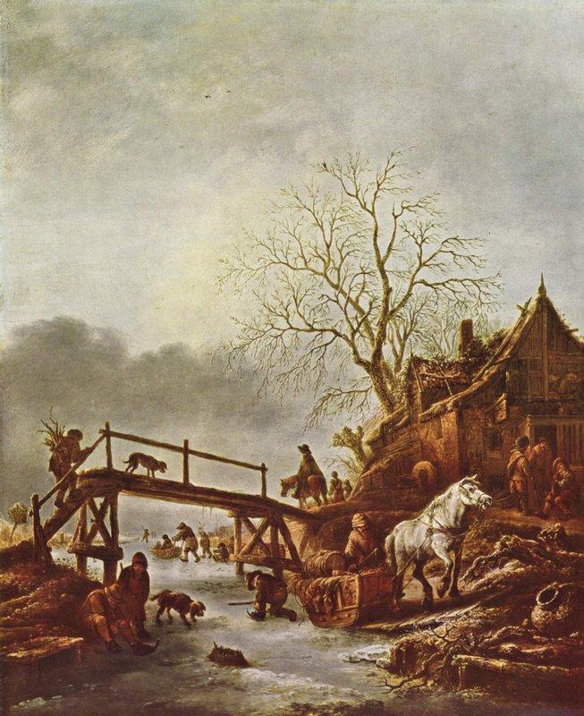 A Winter Scene - Isaac van Ostade