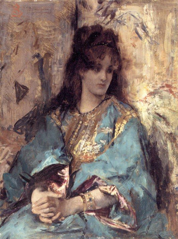 A Woman Seated in Oriental Dress - Alfred Stevens
