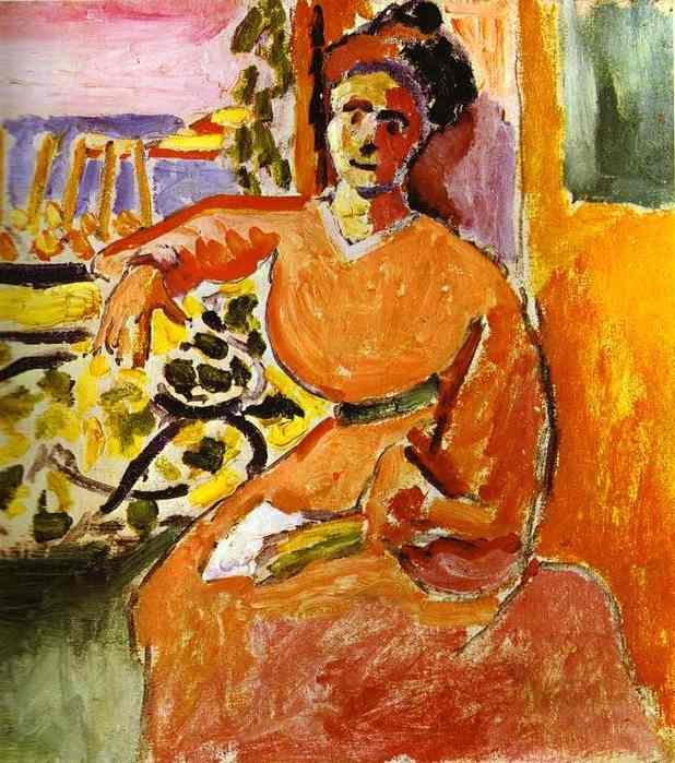 A Woman Sitting before the Window - Henri Matisse