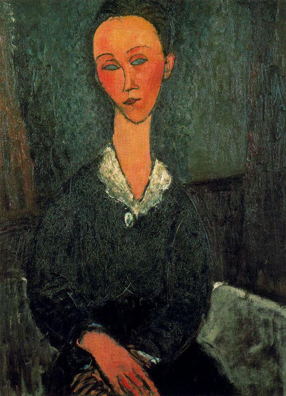 A woman with white collar - Amedeo Modigliani
