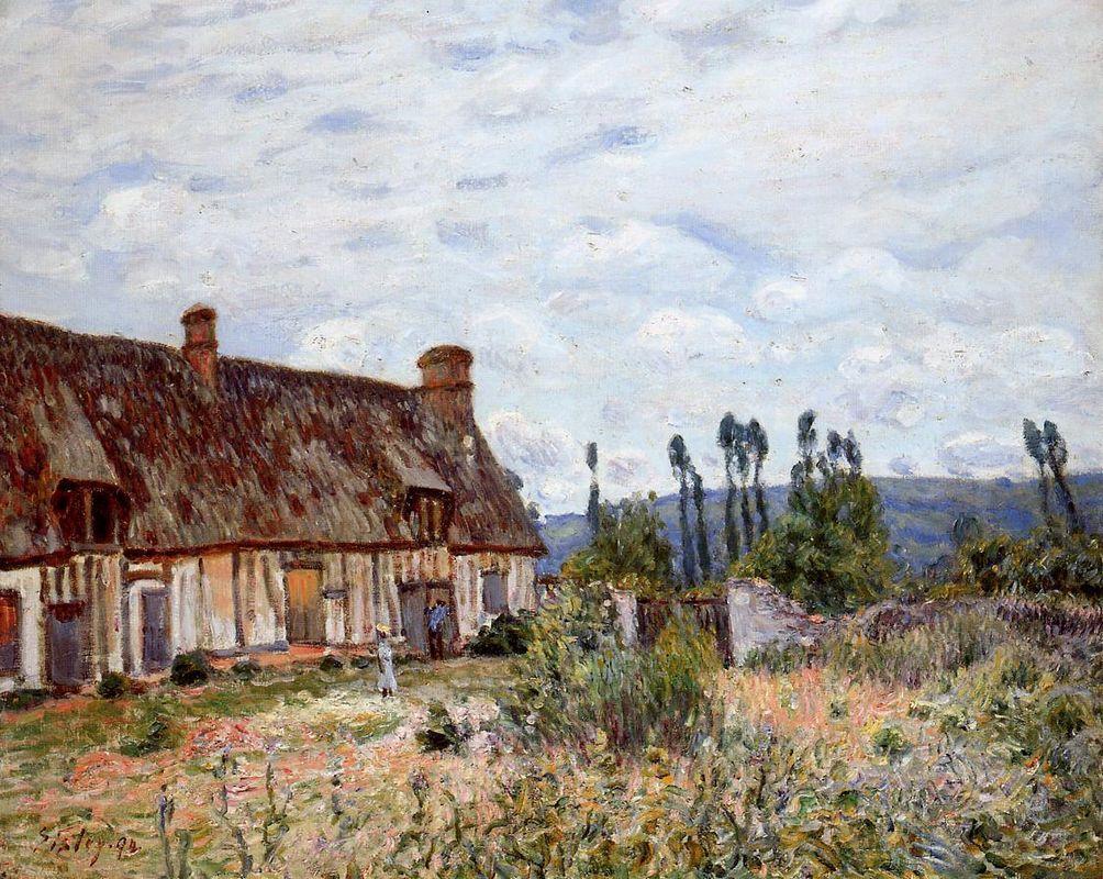 Abandoned Cottage - Alfred Sisley