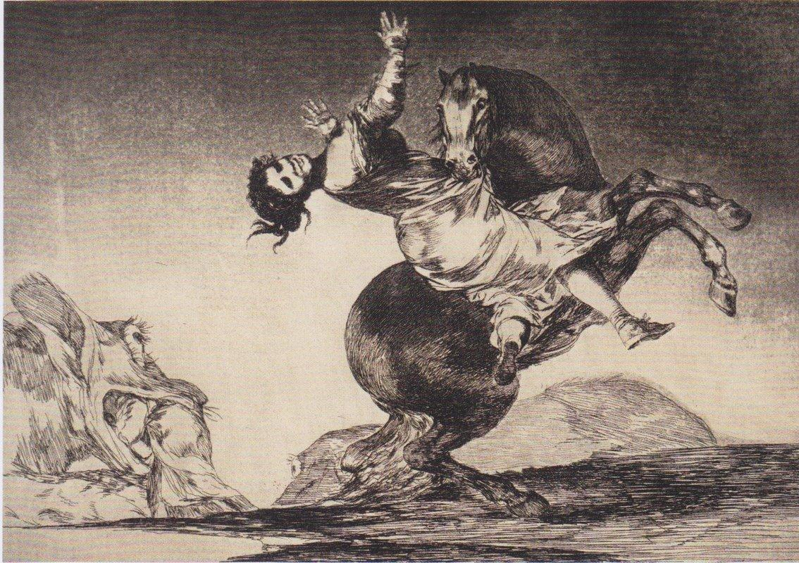 Abducting horse - Francisco Goya