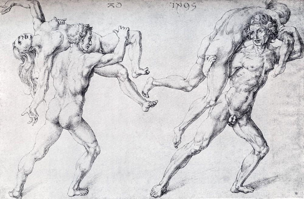 Abduction Of A Woman (Rape Of The Sabine Women) - Albrecht Durer