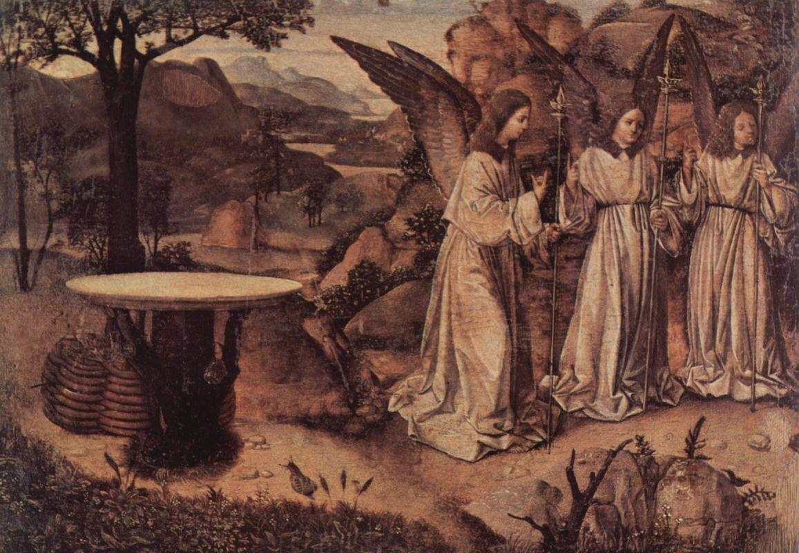 Abraham Served by Three Angels - Antonello da Messina