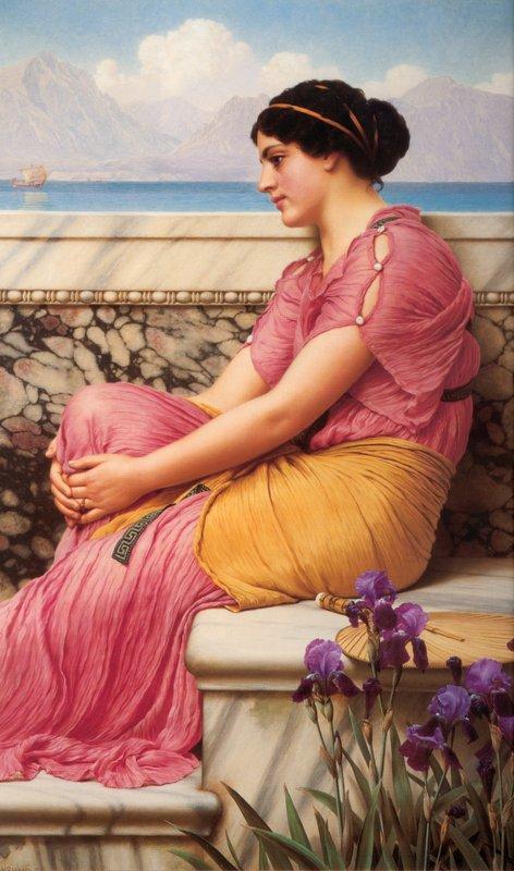 Absence Makes the Heart Grow Fonder - John William Godward