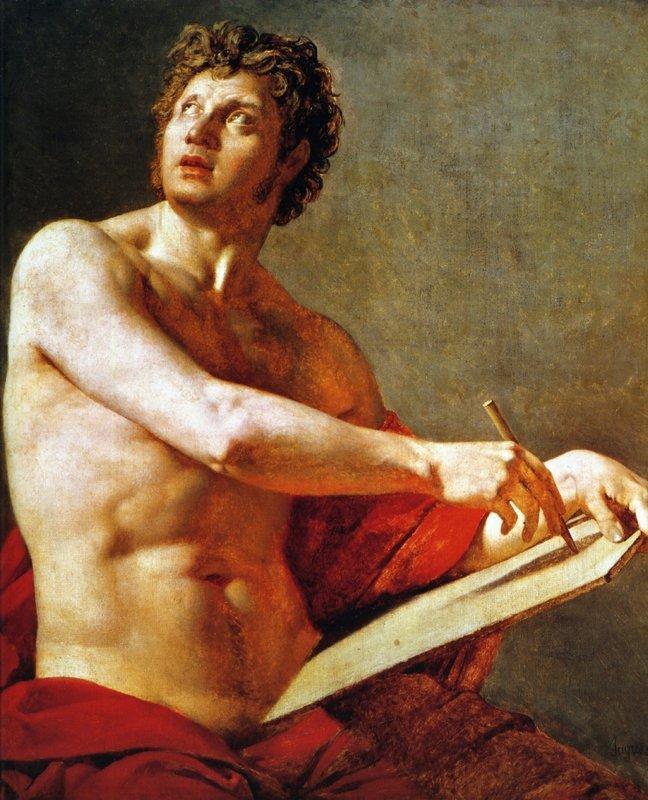 Academic Study of a Male Torse - Jean Auguste Dominique Ingres