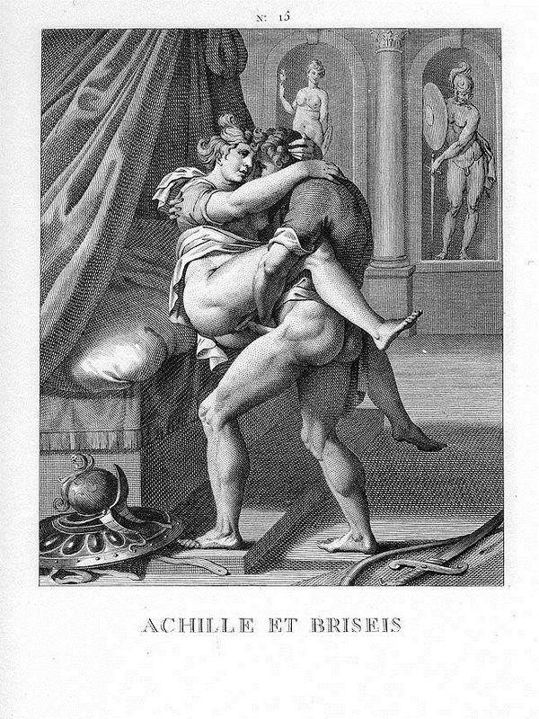Achille and Briseis - Agostino Carracci