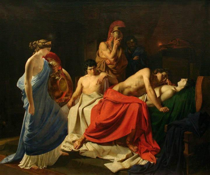 Achilles and the body of Patroclus - Nikolai Ge