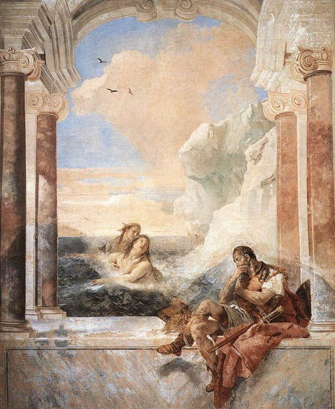 Achilles consoled by his mother, Thetis - Giovanni Battista Tiepolo