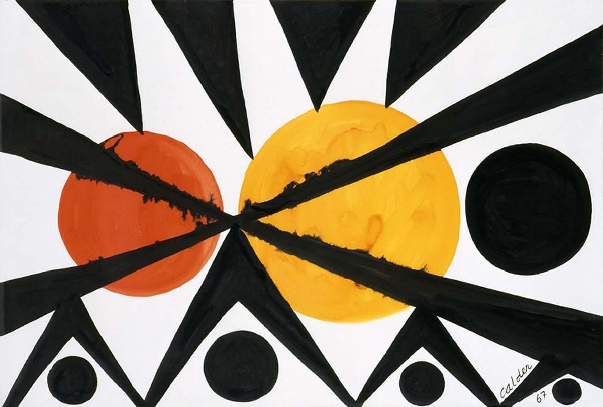 Across the Orange Moons - Alexander Calder