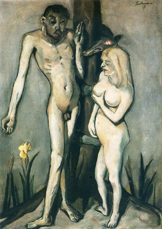 Adam and Eve - Max Beckmann