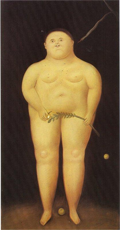 Adam and Eve (Adam) - Fernando Botero