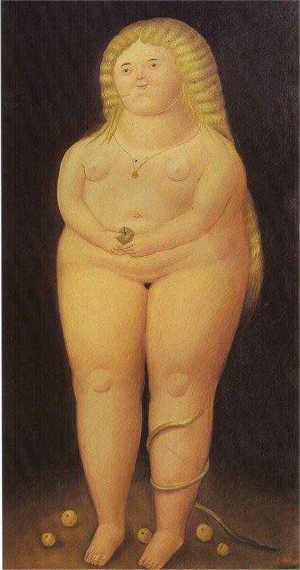 Adam and Eve (Eve) - Fernando Botero