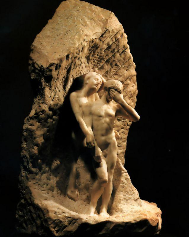 Adam and Eve expelled from Paradise - Auguste Rodin