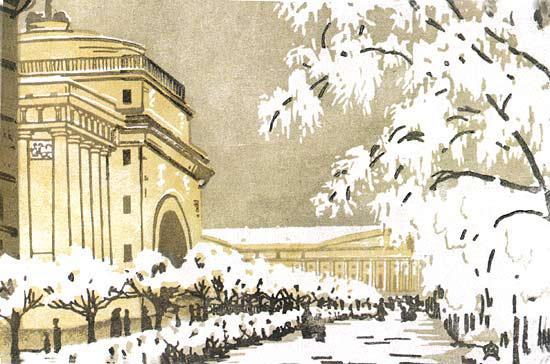 Admiralty under the snow - Anna Ostroumova-Lebedeva