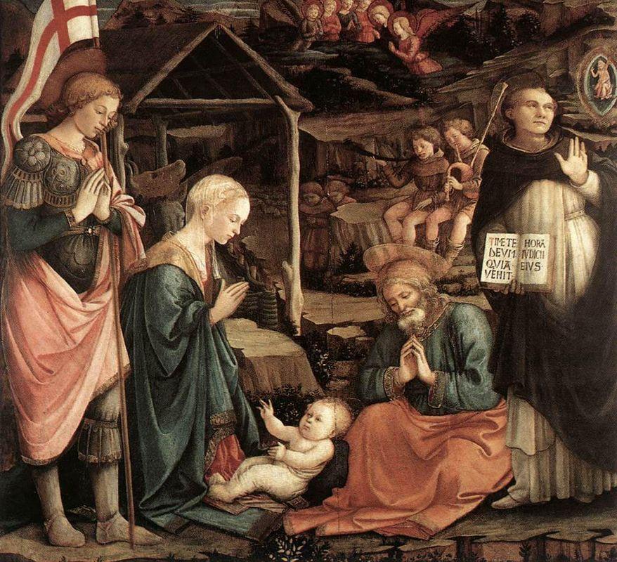 Adoration Of The Child With Saints - Filippo Lippi