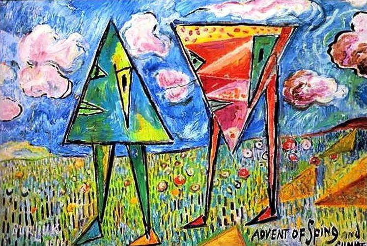 Advent of spring and summer - David Burliuk