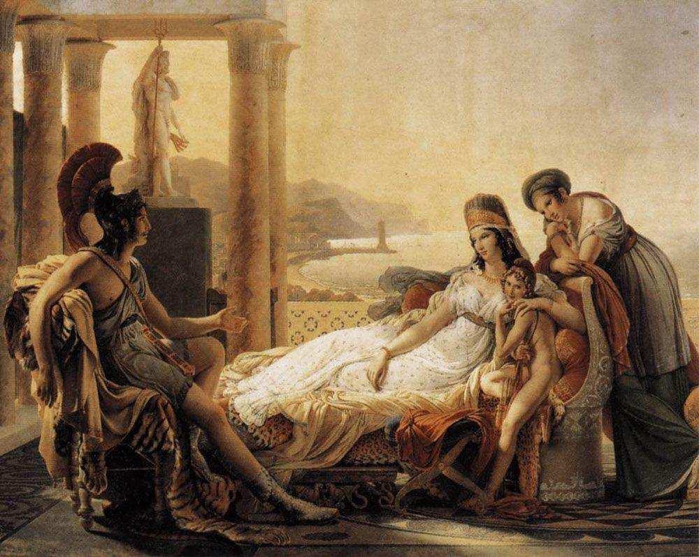 Aeneas tells Dido the misfortunes of the Trojan city - Pierre-Narcisse Guerin