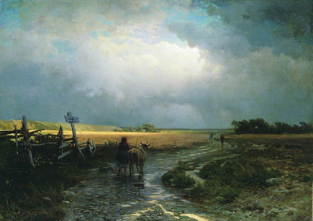 After a Rain. Country Road - Fyodor Vasilyev