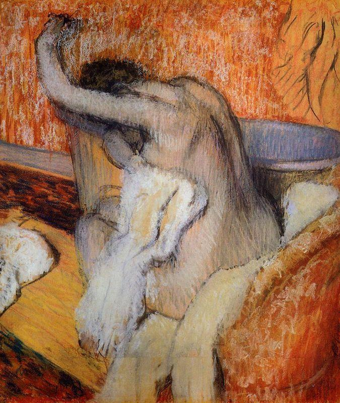 After the Bath (Woman Drying Herself) - Edgar Degas