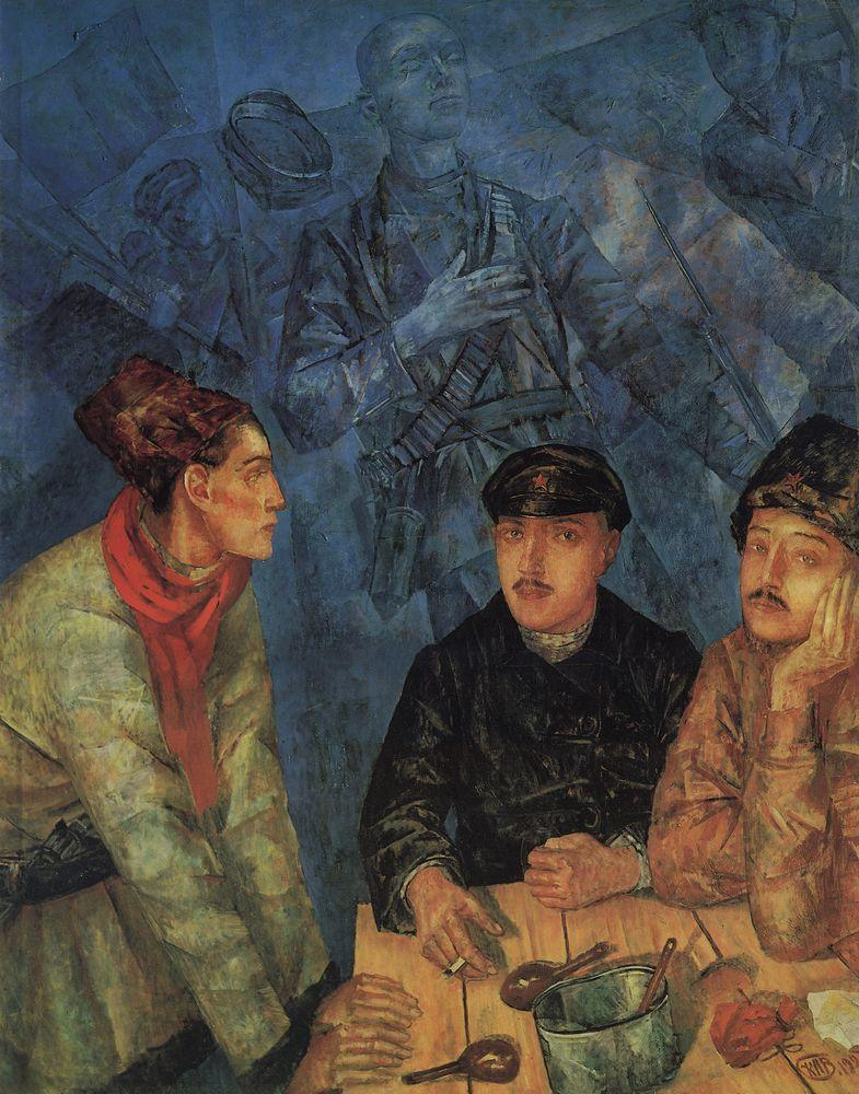 After the battle  - Kuzma Petrov-Vodkin