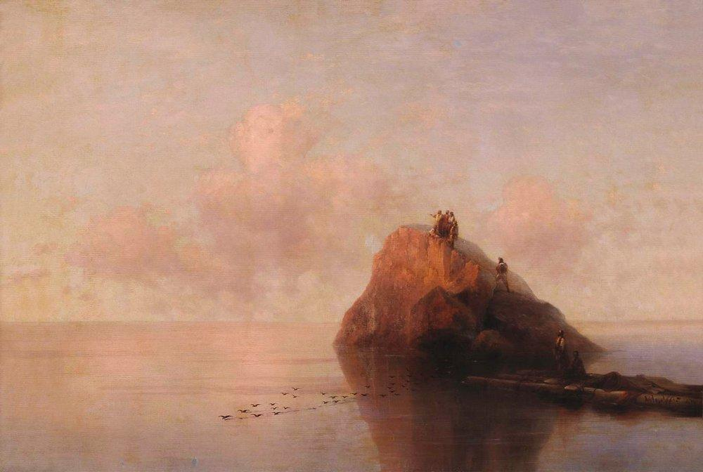 After the shipwreck - Ivan Aivazovsky