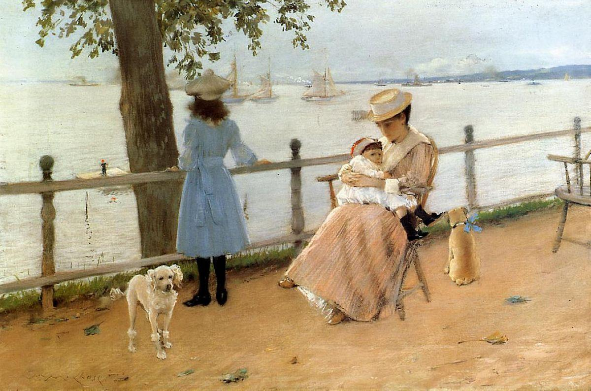 Afternoon by the Sea (aka Gravesend Bay) - William Merritt Chase