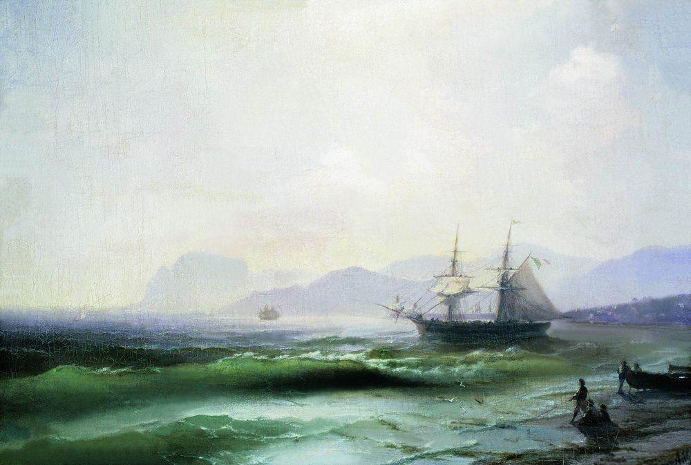 Agitated sea - Ivan Aivazovsky