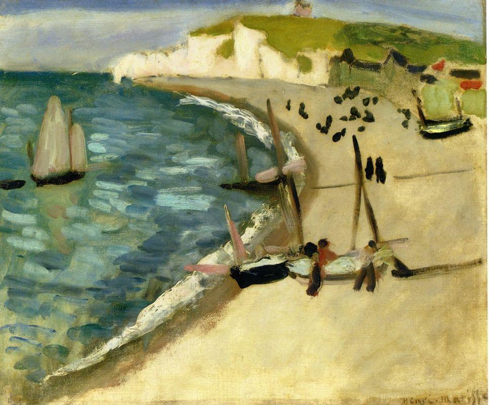 Aht Amont Cliffs at Etretat - Henri Matisse