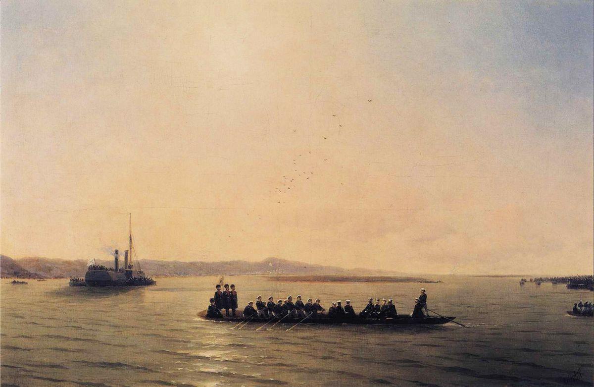 Alexander II Crossing the Danube - Ivan Aivazovsky