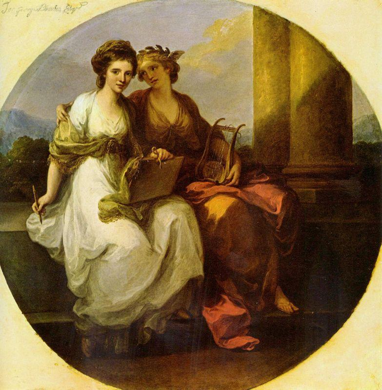 Allegory of poetry and music - Angelica Kauffman