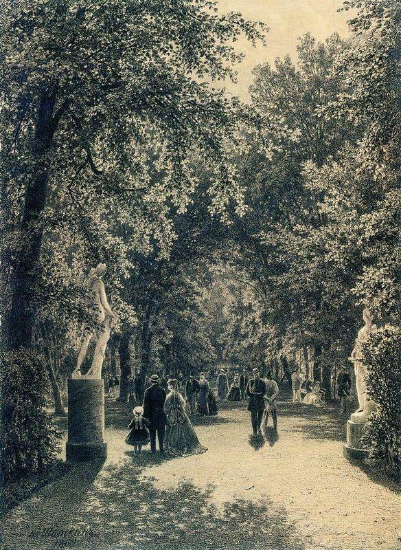 Alley of the Summer Garden in St. Petersburg - Ivan Shishkin