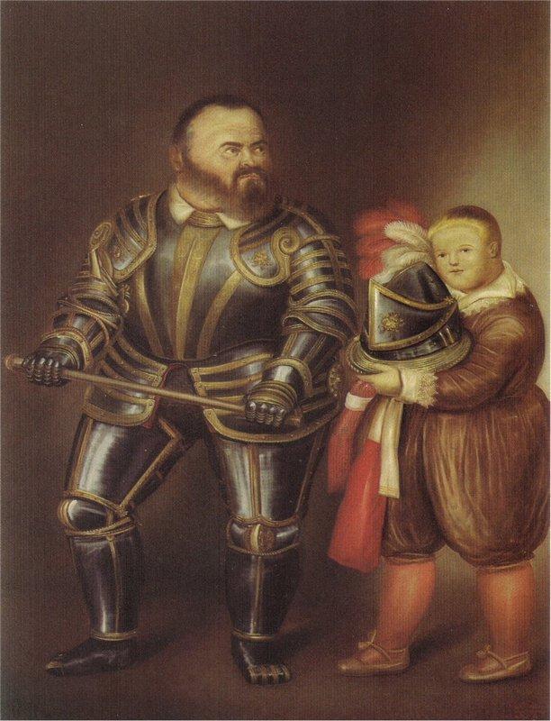 Alof of Vignancourt (after Caravaggio) - Fernando Botero
