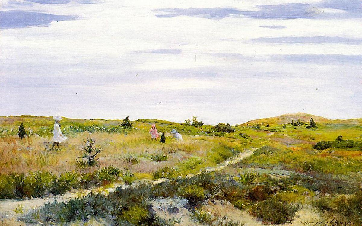 Along the Path at Shinnecock - William Merritt Chase